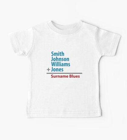 Surname Blues - Smith, Johnson, Williams & Jones Kids Clothes