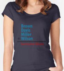 Surname Blues - Brown, Davis, Miller & Wilson Women's Fitted Scoop T-Shirt