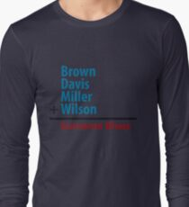 Surname Blues - Brown, Davis, Miller & Wilson Long Sleeve T-Shirt