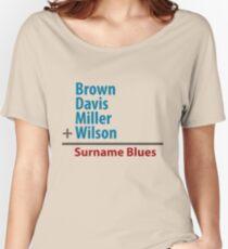 Surname Blues - Brown, Davis, Miller & Wilson Women's Relaxed Fit T-Shirt