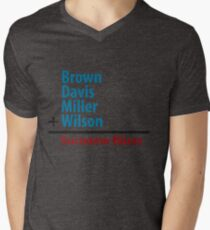 Surname Blues - Brown, Davis, Miller & Wilson Men's V-Neck T-Shirt