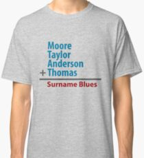 Surname Blues - Moore, Taylor, Anderson, Thomas Classic T-Shirt