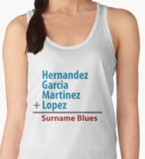 Surname Blues - Hernandez, Garcia, Martinez, Lopez Women's Tank Top