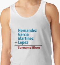 Surname Blues - Hernandez, Garcia, Martinez, Lopez Tank Top