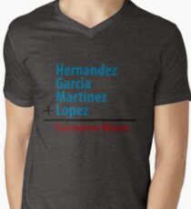 Surname Blues - Hernandez, Garcia, Martinez, Lopez Mens V-Neck T-Shirt