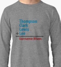 Surname Blues - Thompson, Clark, Lewis, Lee Lightweight Sweatshirt
