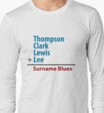 Surname Blues - Thompson, Clark, Lewis, Lee Long Sleeve T-Shirt