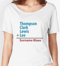 Surname Blues - Thompson, Clark, Lewis, Lee Women's Relaxed Fit T-Shirt