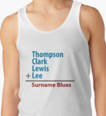 Surname Blues - Thompson, Clark, Lewis, Lee Tank Top