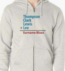 Surname Blues - Thompson, Clark, Lewis, Lee Zipped Hoodie