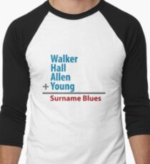 Surname Blues - Walker, Hall, Allen, Young Men's Baseball ¾ T-Shirt