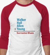 Surname Blues - Walker, Hall, Allen, Young Men's Baseball ¾ T-Shirt
