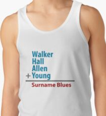 Surname Blues - Walker, Hall, Allen, Young Tank Top