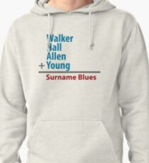 Surname Blues - Walker, Hall, Allen, Young Pullover Hoodie