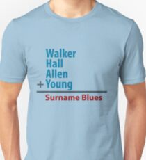 Surname Blues - Walker, Hall, Allen, Young Unisex T-Shirt