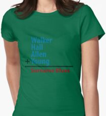 Surname Blues - Walker, Hall, Allen, Young Women's Fitted T-Shirt