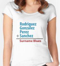 Surname Blues - Rodriguez, Gonzalez, Perez, Sanchez Women's Fitted Scoop T-Shirt