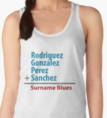 Surname Blues - Rodriguez, Gonzalez, Perez, Sanchez Women's Tank Top