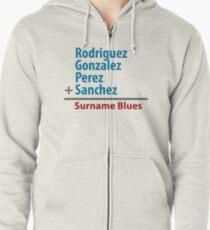 Surname Blues - Rodriguez, Gonzalez, Perez, Sanchez Zipped Hoodie