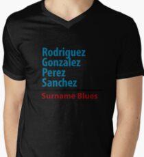 Surname Blues - Rodriguez, Gonzalez, Perez, Sanchez Mens V-Neck T-Shirt