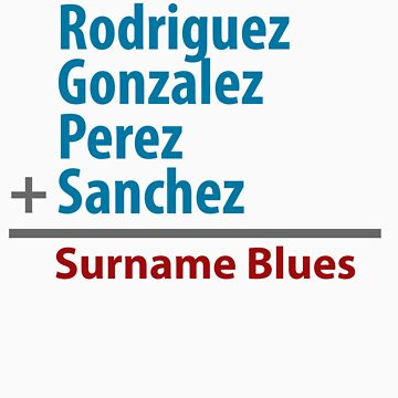 Surname Blues - Rodriguez, Gonzalez, Perez, Sanchez by ns2photography