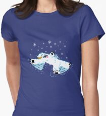 Wampa snow angel  Women's Fitted T-Shirt
