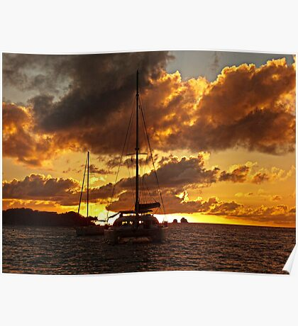 Just an other sunset at anchor Poster