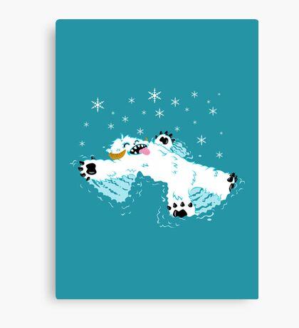 Wampa snow angel  Canvas Print
