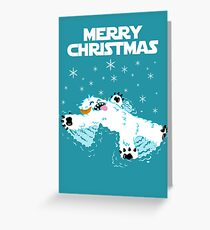 Wampa snow angel christmas card Greeting Card