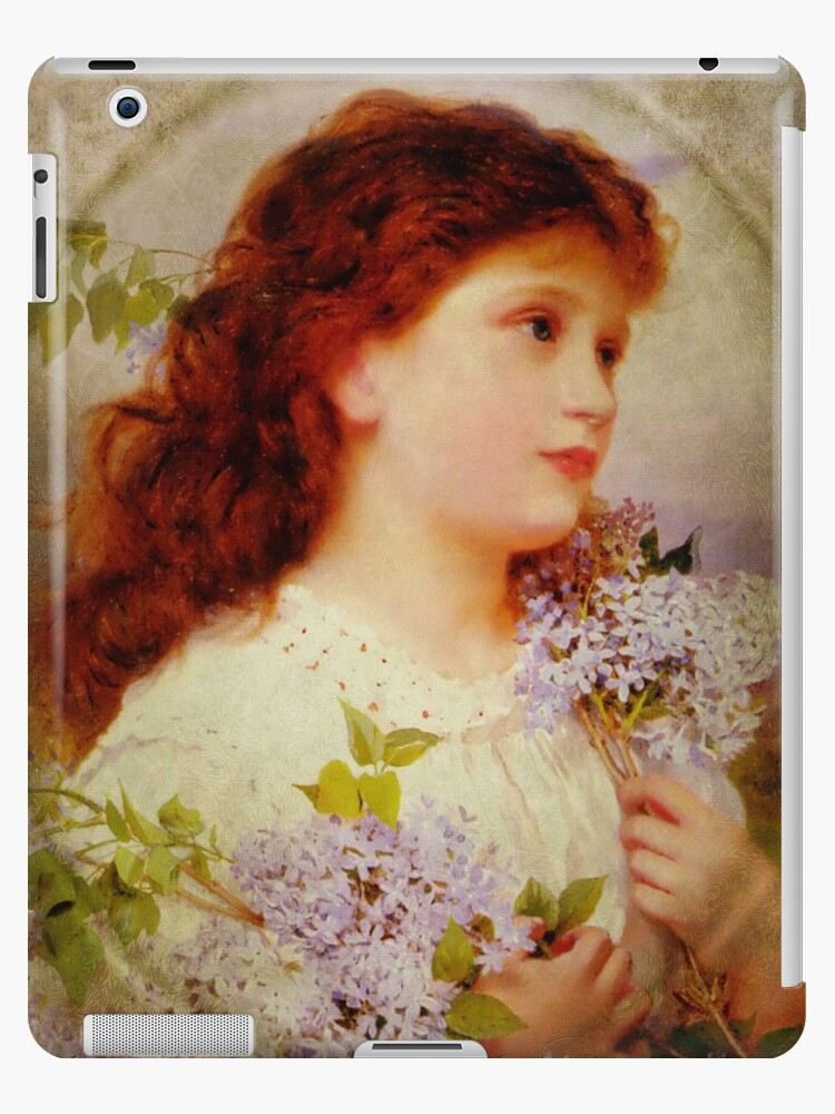 Girl with Lilacs iPad Case by Pamela Phelps