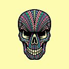 Aztec Skull by Pancho The Macho