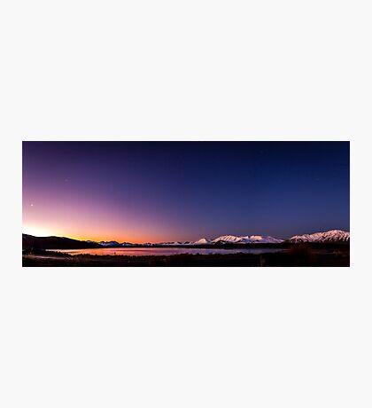 Lake Tekapo Sunset Stars Photographic Print