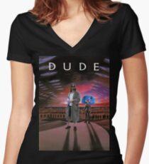 DUDE/DUNE Women's Fitted V-Neck T-Shirt