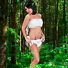 innocent female angel in a forest  by PhotoStock-Isra