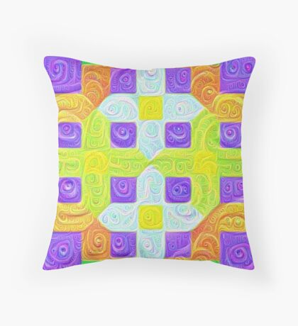 #DeepDream Color Squares Visual Areas 5x5K v1448291932 Throw Pillow