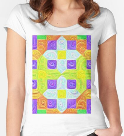 #DeepDream Color Squares Visual Areas 5x5K v1448291932 Fitted Scoop T-Shirt