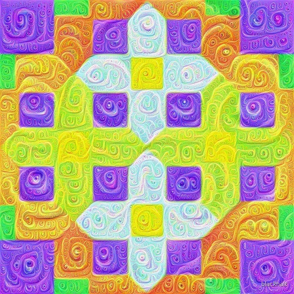 #DeepDream Color Squares Visual Areas 5x5K v1448291932 by blackhalt