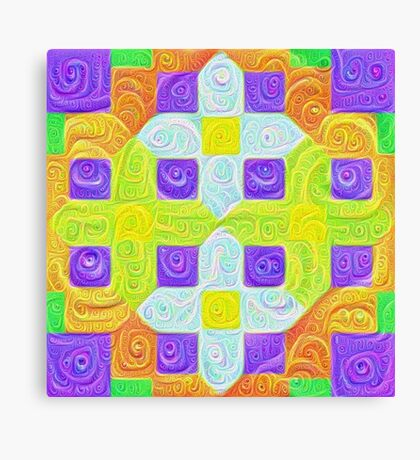 #DeepDream Color Squares Visual Areas 5x5K v1448291932 Canvas Print