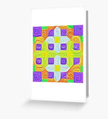 #DeepDream Color Squares Visual Areas 5x5K v1448291932 Greeting Card
