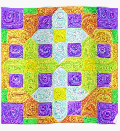 #DeepDream Color Squares Visual Areas 5x5K v1448291932 Poster