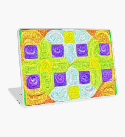 #DeepDream Color Squares Visual Areas 5x5K v1448291932 Laptop Skin