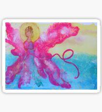 Breast Cancer Angel Sticker