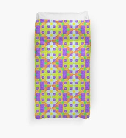 #DeepDream Color Squares Visual Areas 5x5K v1448291932 Duvet Cover