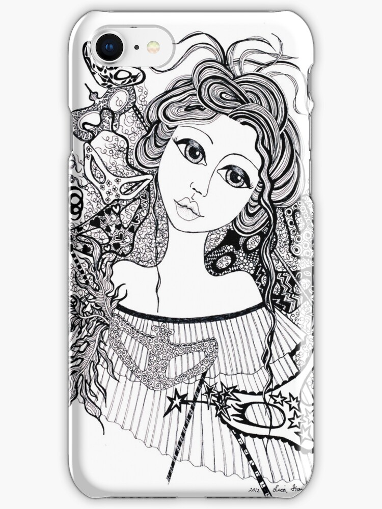 Masquerade Iphone Cover by Lisafrancesjudd