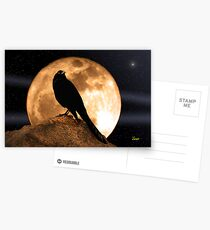 Crow In The Moon Postcards