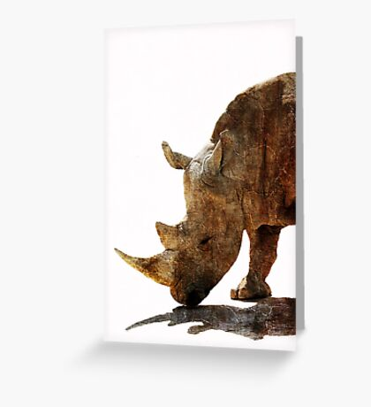 The Old Rhino Greeting Card