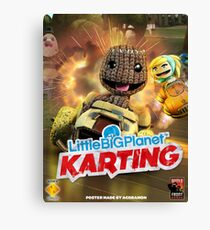 LittleBigPlanet Karting Burn Rubber Canvas Print