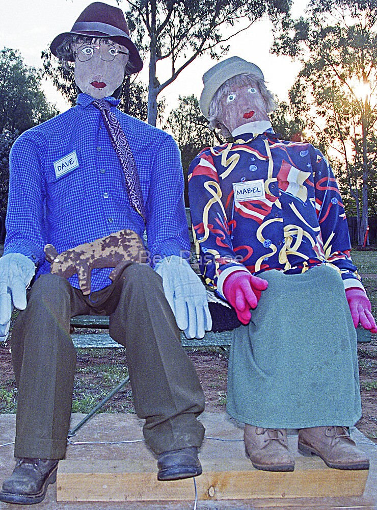Dave & Mabel at Peak Hill, NSW by Bev Pascoe