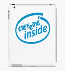 "Intel Coffee logo parody - ""Caffeine Inside"" iPad Case/Skin"