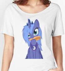 Luna ,Messy Mane  Women's Relaxed Fit T-Shirt